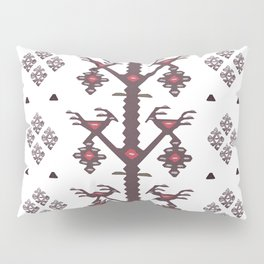 Tribal Ethnic Love Birds Kilim Rug Pattern Pillow Sham