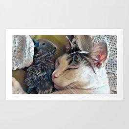 CC Loves His Mouse Art Print