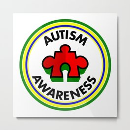 Autism Awareness Metal Print