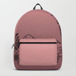 Kitschy Flower Medley Pink Backpack