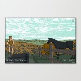 Trans America Bike Race - White Bird Hill Canvas Print