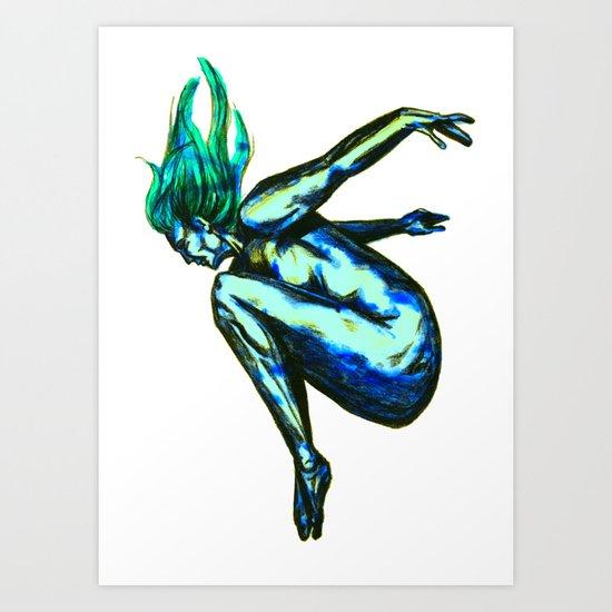 Flying or falling Art Print