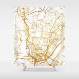 CINCINNATI OHIO CITY STREET MAP ART Shower Curtain