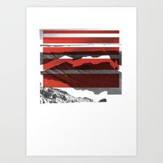 Red Terrain Art Print