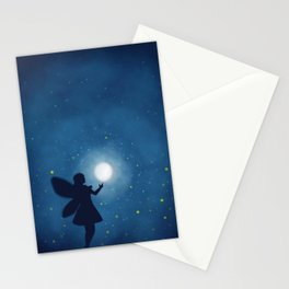 Fairy at Night Moon Stationery Cards