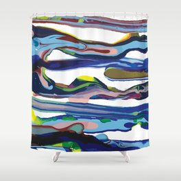 drops of colour Shower Curtain