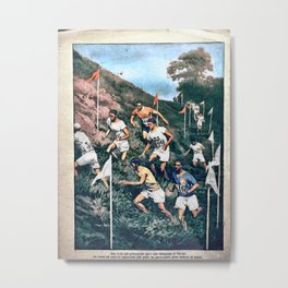 The 1924 Olympic Cross-Country Race by Achille Beltrame Metal Print