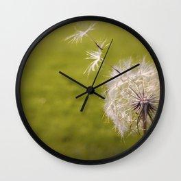 Wishing on a Dandelion Wall Clock