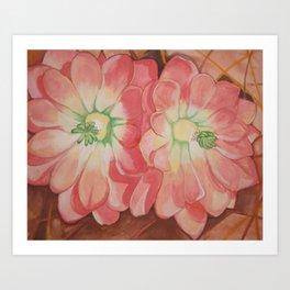 Desert Blossoms Art Print
