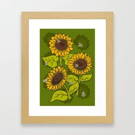 Sunflower Field Framed Art Print