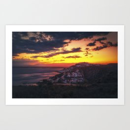 Sunset over Roses, Costa Brava, Cataluna, Spain Art Print