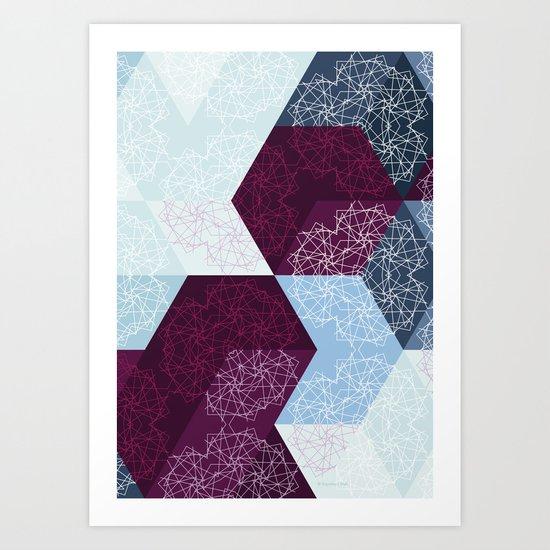 Caleidoscube Art Print