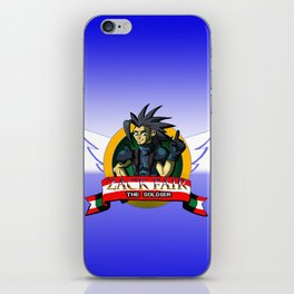 Zack Fair the Soldier  iPhone Skin