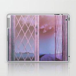 Lavender Fields in Window Shabby Chic original art Laptop & iPad Skin