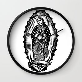 Mother Mary Silhouette Wall Clock