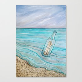 Message In A Bottle * Daydreaming Along the Shore Canvas Print