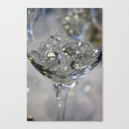 Glass of crystals Canvas Print