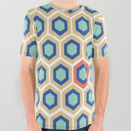 Digital Honeycomb All Over Graphic Tee