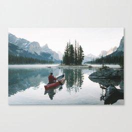 Morning paddle at Spirit Island Canvas Print