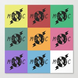 Vinyl Music Canvas Print