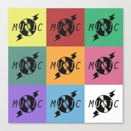Vinyl Music Canvas Print