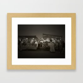 Famous Moroccan Marketplace of Jemaa el-Fnaa Framed Art Print
