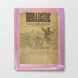 Votes for Women Broadside - Marching On - April 1911 Metal Print