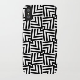 Black And White Op-Art Triangle Pattern iPhone Case