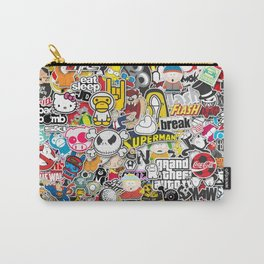 JDM Sticker Bomb Carry-All Pouch