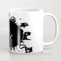 aliens Mugs featuring Aliens On Aliens! by Aaron Lin