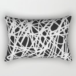 White Noise Abstract Rectangular Pillow