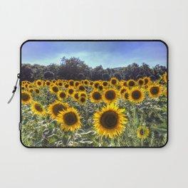 Sunflower Fields Of Summer Laptop Sleeve
