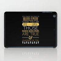 hufflepuff iPad Cases featuring Hufflepuff by Dorothy Leigh