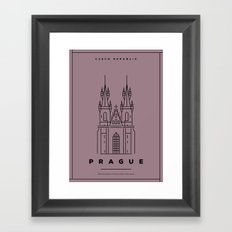 Minimal Prague City Poster Framed Art Print