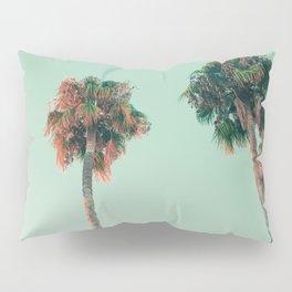 Palm trees at sunset Pillow Sham