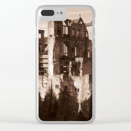 Ruins in Heidelberg Clear iPhone Case