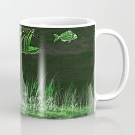 Trout Attack In Green Coffee Mug