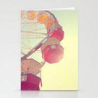 ferris wheel Stationery Cards featuring ferris wheel by shannonblue