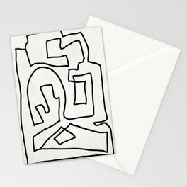 Abstract line art Stationery Cards