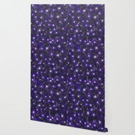 Ultra Violet Stars in a Purple Galaxy Wallpaper
