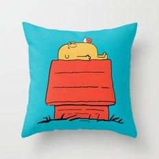 Snoopy Time! Throw Pillow