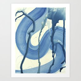 Watercolor Monoprint #4 Art Print