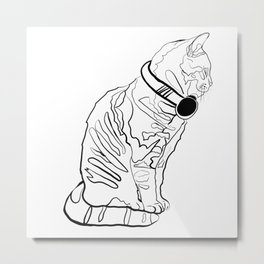 Kitten Jams Metal Print