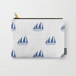 Blue Sailboat Pattern Carry-All Pouch