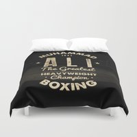 ali Duvet Covers featuring Boxing Ali Canvas by Maioriz Home