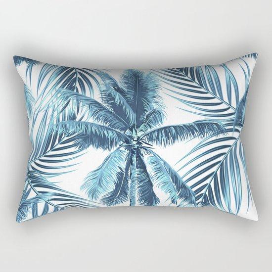 South Pacific palms II - oceanic Rectangular Pillow