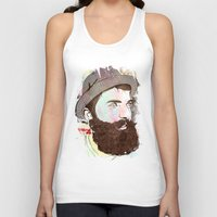 hipster Tank Tops featuring Hipster by jnk2007
