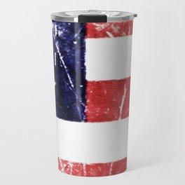American Grunge Flag Travel Mug