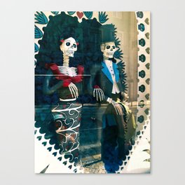 Wedding skeletons Canvas Print