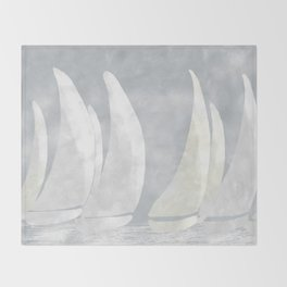 Sailboat Art, Sailing Art, Nautical Art, Nautical Decor Throw Blanket